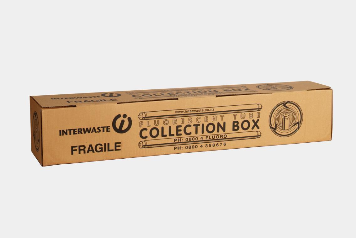 100 Tube Fluorescent Tube Recycling Box Interwaste